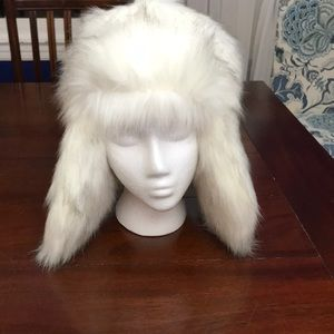 NWT Free People Trapper Fur Hat in Ivory